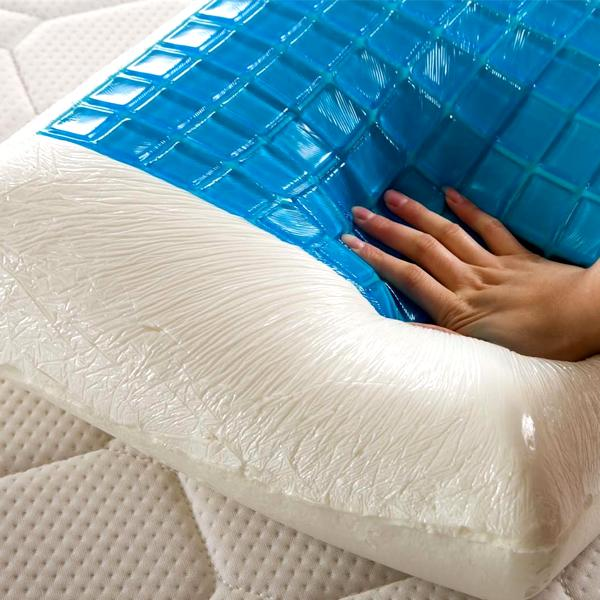Home - Luxury Bamboo Memory Foam Pillow With Cooling Gel Technology Pad