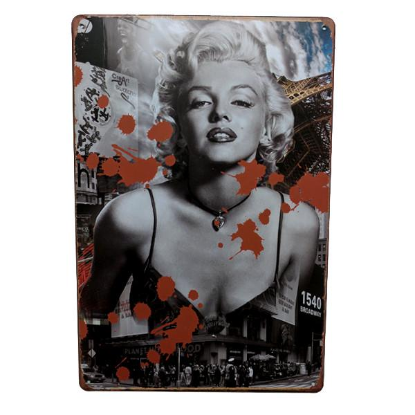 Home - Marilyn Broadway Vintage Collectible Metal Wall Decor Sign