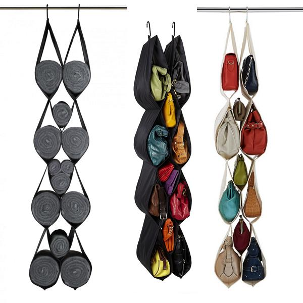 Home Organization - 12-Pocket Self-Adjusting Hanging Organizer