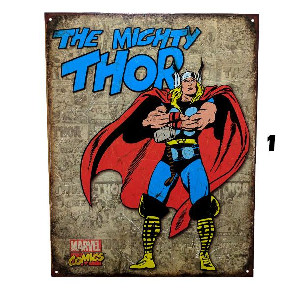 "Home - Retro ""The Mighty Thor"" Vintage Collectible Metal Wall Decor Sign - 16"" X 12.5"""