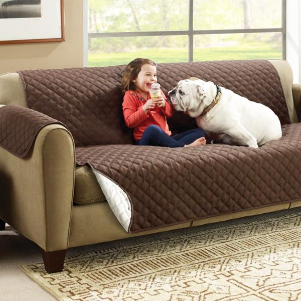 "Home - ""Sofa Saver"" Quilted Reversible Furniture Protective Cover"