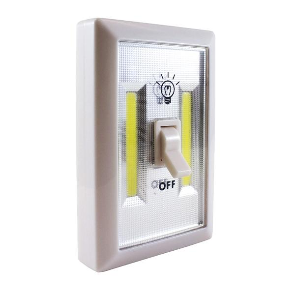Home - Ultra-Bright 3W Dual-COB LED Wall-Mountable Cordless Rocker Switch Light With Built-In Magnets