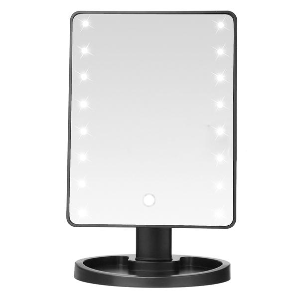 Home - Ultra Clear 16-LED Rotating Vanity Mirror With Adjustable Viewing Angle And Tray