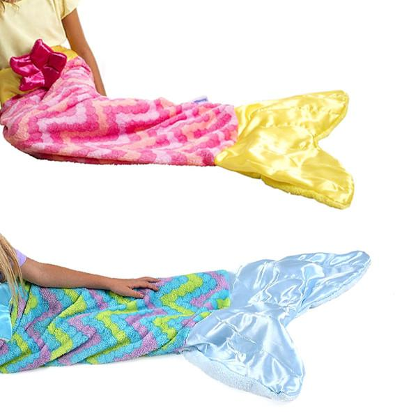 Home - Ultra-Soft Mermaid Tail Blanket - Children And Adult Sizes Available!