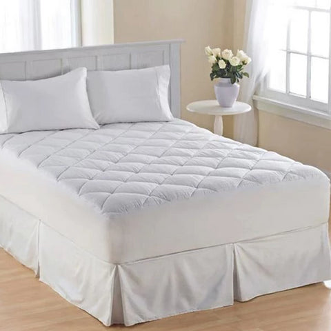 Home - Water-Resistant Mattress Pad Cover With Ultrasonic Threadless Quilting - 4 Sizes Available!