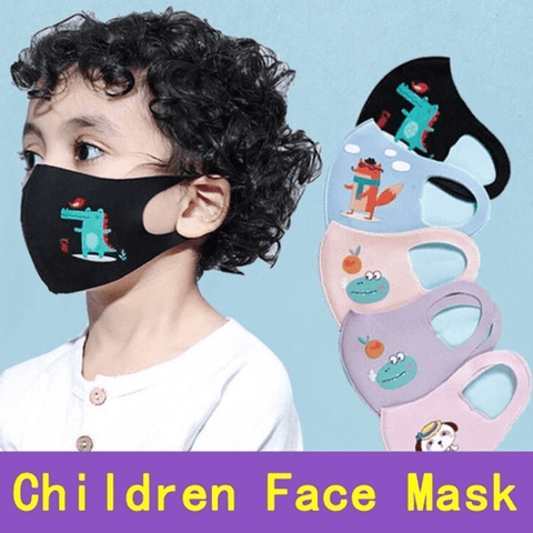 3 Pieces: Kids Animal Printed Fashion Face Mask