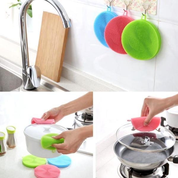 Kitchen - 3 Pack: Multipurpose Food-Grade Antibacterial Silicone Smart Sponge