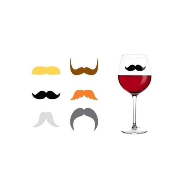 Kitchen - Dapper 'Staches Silicone Drink Markers