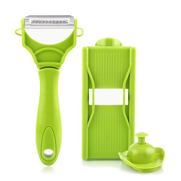 Kitchen - Dual-Blade Julienne Peeler With Bonus Mandolin & Safety Holder