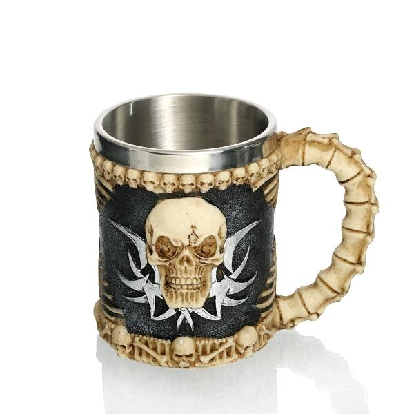 "Kitchen - ""Jolly Roger"" Skull Stainless Steel Drinking Mug"