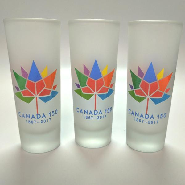 Kitchen - Limited Edition Canada 150 Logo Celebration Frosted Tall Shooter Shot Glasses