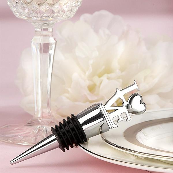 "Kitchen - ""LOVE"" Chrome Wine Bottle Stopper"