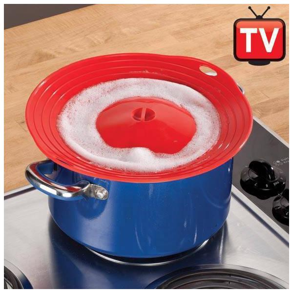 Kitchen - Multi-Purpose Boil Guard And Steamer Lid Cover