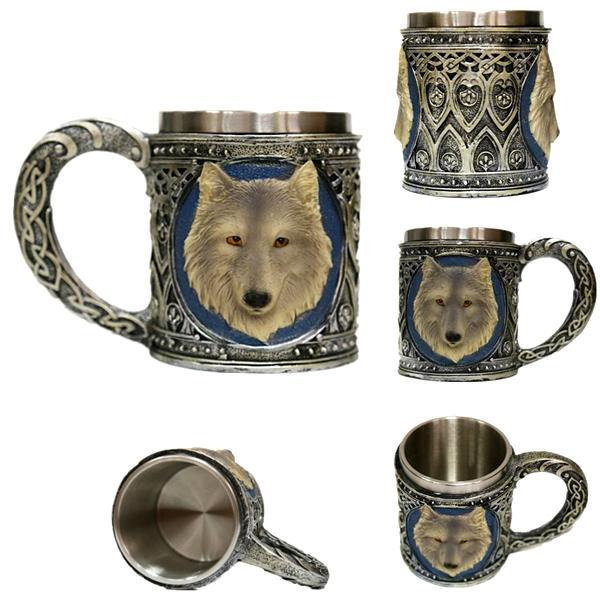 Kitchen - Mystical Wolf Stainless Steel Drinking Mug