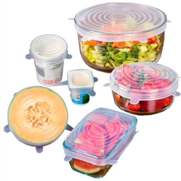 VIP Offer - Buy 1 Get 1 Free! Set of 6: Super Stretch Silicone Lids