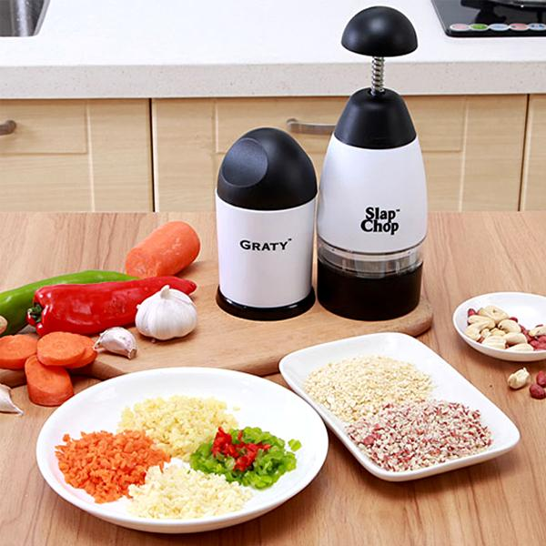 Kitchen - Slap Chop Multi-Purpose Food Chopper With Bonus Gourmet Cheese Grater