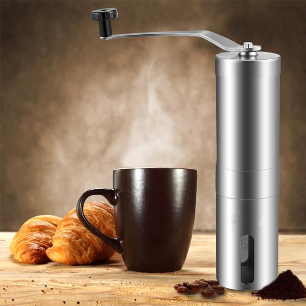 Kitchen - Stainless Steel Manual Coffee Grinder With Ceramic Burr
