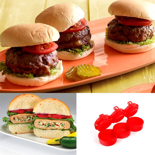 Kitchen - Stuff 'Em: Triple Slider Gourmet Pressed Burger Maker