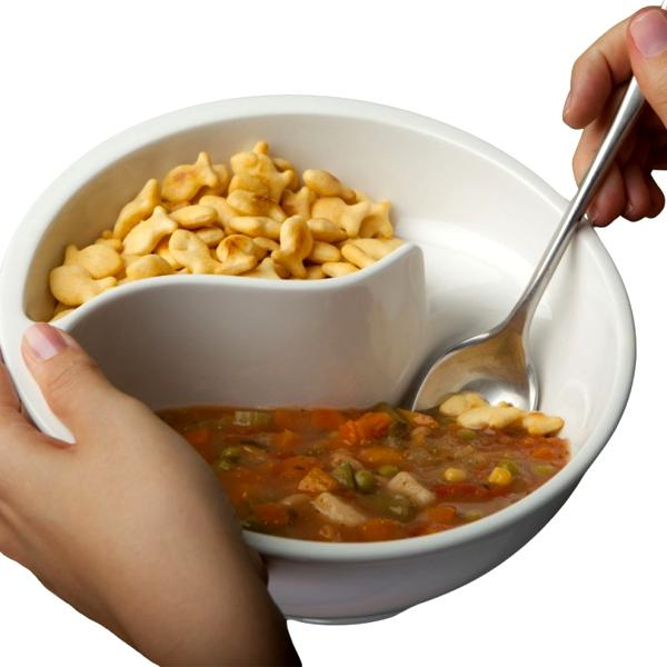 Kitchen - The Perfect Two-Compartment Snack & Cereal Bowl