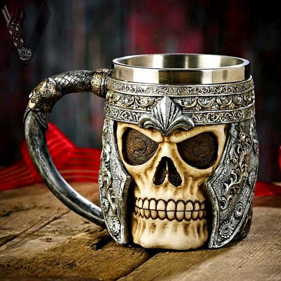 Kitchen - Warrior Skull Stainless Steel Drinking Mug