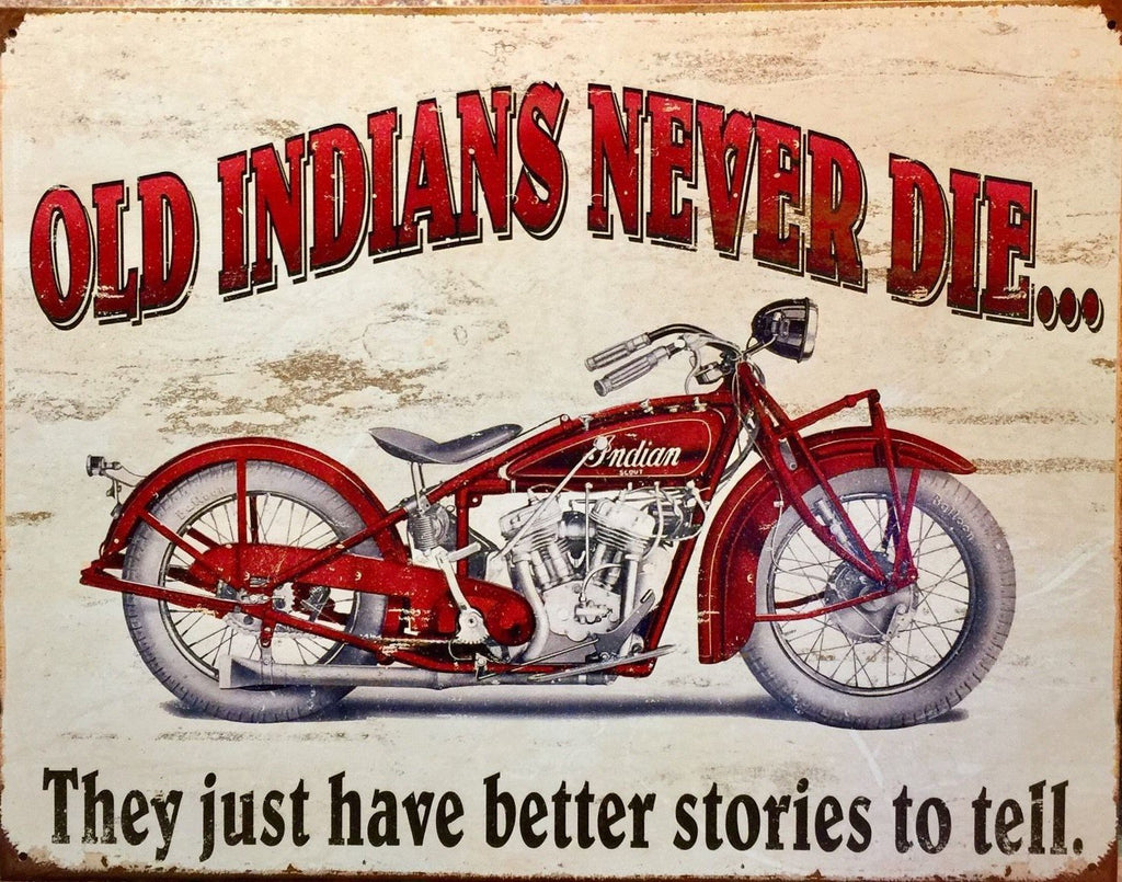 Metal Sign - Vintage Collectible Metal Sign - Indian Motorcycle