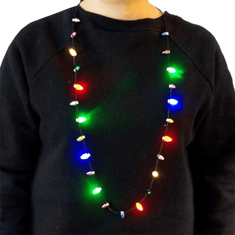 LED Holiday Flashing Necklace
