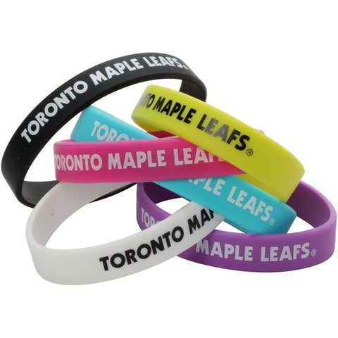 NHL - 6 Pack: Toronto Maple Leafs Officially Licensed Silicone Beverage Bands