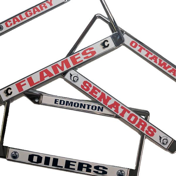 NHL - NHL Officially Licensed Metal Chrome License Plate Frame - Assorted Teams