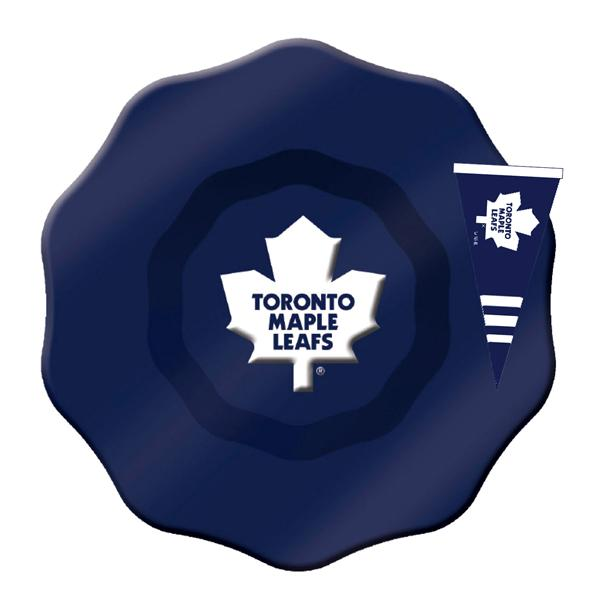 NHL - Toronto Maple Leafs Officially Licensed Glass Dip Bowl With Charm