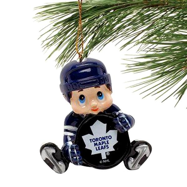 NHL - Toronto Maple Leafs Officially Licensed Lil' Fan Hockey Player Ornament