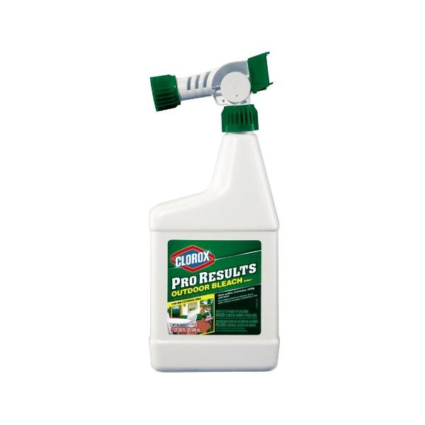 Outdoor - Clorox Pro Results Outdoor Bleach Cleaner Spray With Garden Hose Nozzle Connect (32 Oz.)