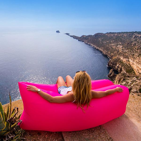 Outdoor - Ease-In Inflatable Hangout Lounger - 10 Colors Available!
