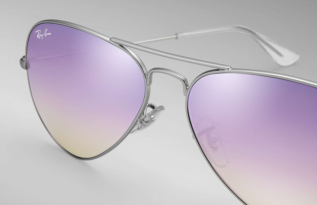 Outdoor - Ray-Ban Aviator Lilac Mirror Sunglasses