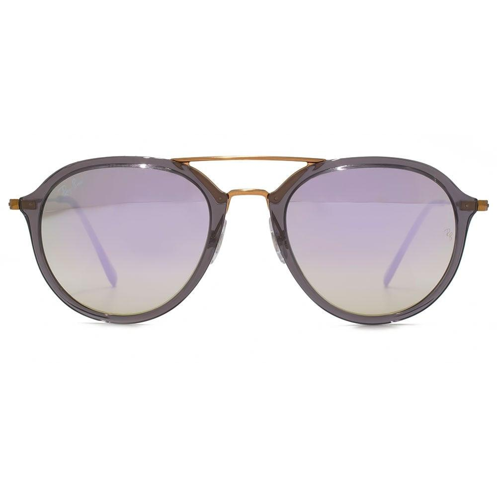 Outdoor - Ray-Ban Lilac Gradient Flash Pilot Sunglasses