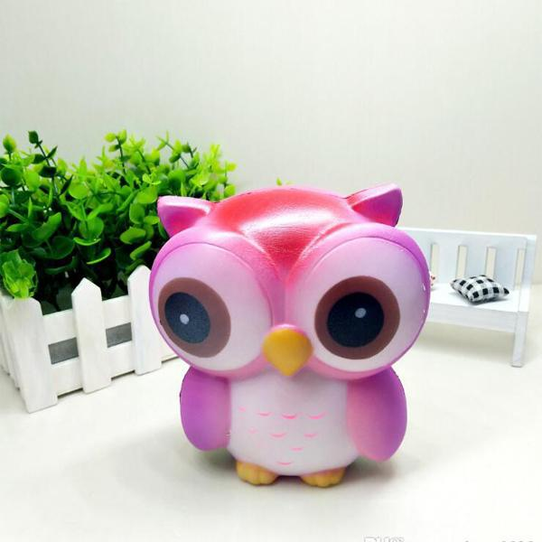 Anti-Stress Pink Owl Squishy Toy
