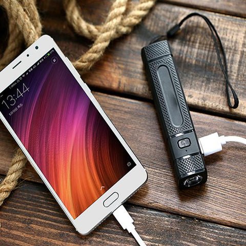Portable Phone Charger With Built-In Flashlight