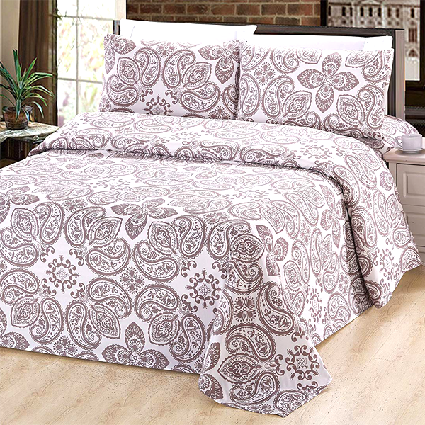 Patterned Bamboo Bed Sheet Set
