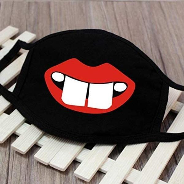 3 Pieces: Unisex 3D Print Cartoon Pattern Cotton Face Masks