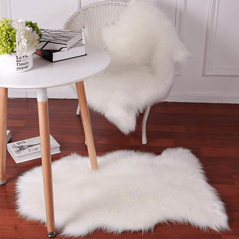 White Luxury Sheepskin Area Rugs