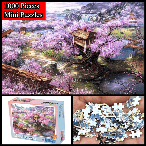 """Sakura Villa"" 1000 Pieces Mini Jigsaw Puzzles"