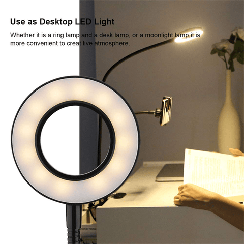 Selfie Ring Light With Cellphone Holder