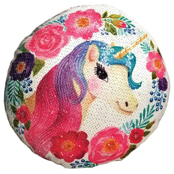 Decorative Round Sequin Color Changing Unicorn Cushions - 9 Styles Available!