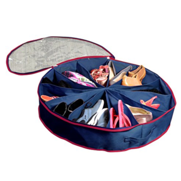 Space Saving Round Shoe Organizer