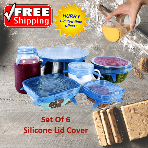 Set of 24: Super Stretch Silicone Lids - FREE SHIPPING For A Limited Time Only!