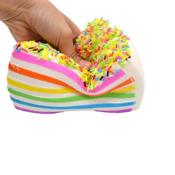 Rainbow Cake Slice Squishy Toy