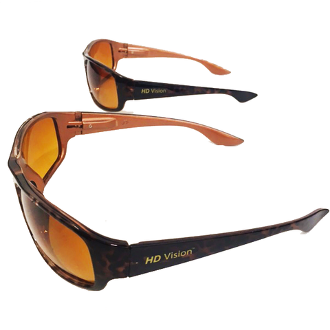 """Tortoise Shell Design HD Vision Glasses"" For Anti-Glare and Clearer Vision"