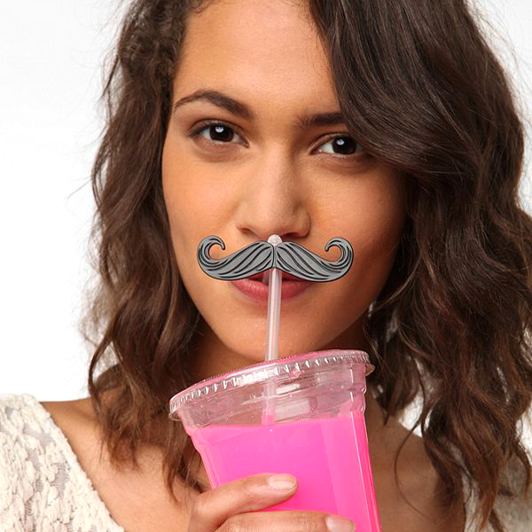 Quirky Reusable Mustache Straw - Available In 12 or 24 Packs!