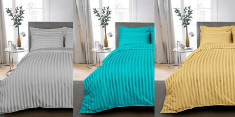 Embossed Stripe Design Bed Sheet Sets