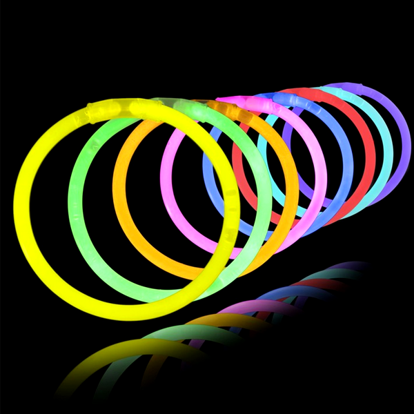 "Toys - 3 Pack: 8"" Fluorescent Neon Glow Bracelets - Assorted Colors"