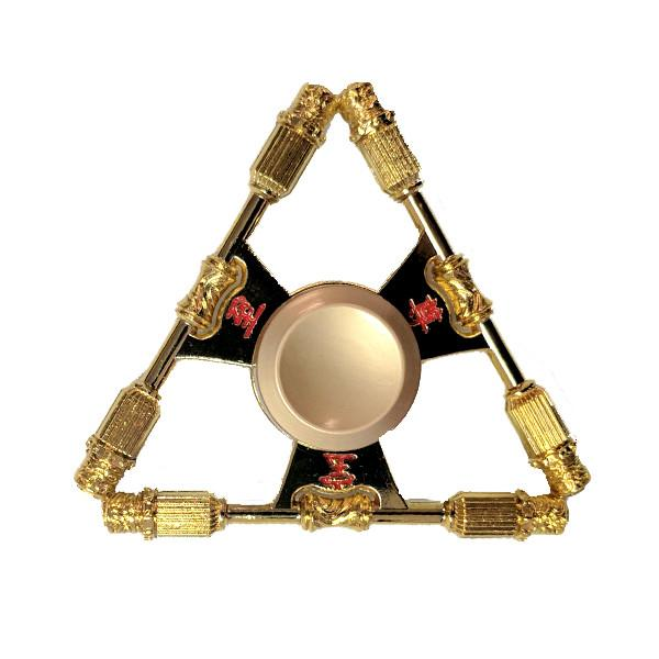 Toys - Golden Triangle Aluminum Alloy Tri-Spinner Fidget Toy